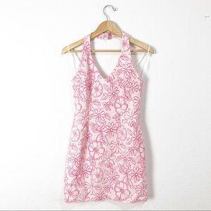 Vintage pinup floral wiggle dress S/M